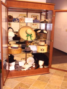 October 2005 project - display of hats in the Sussex/Wantage Library